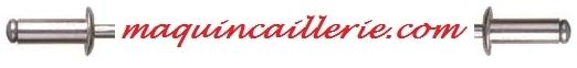 Logo maquincaillerie présente les rivets
