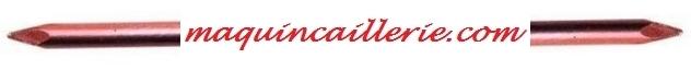 Logo maquincaillerie pointes cuivre