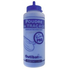 Biberon de Poudre à tracer Bleu 200gr pour Cordeau