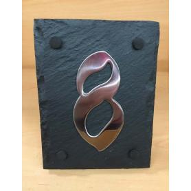 Ardoise en Schiste pour Numéro 11.5 X 15 cm
