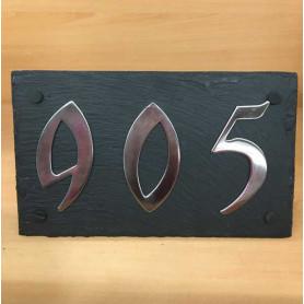 Ardoise en Schiste pour Numéro 15 X 25 cm