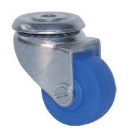 Roulette bleue à oeil D 30mm