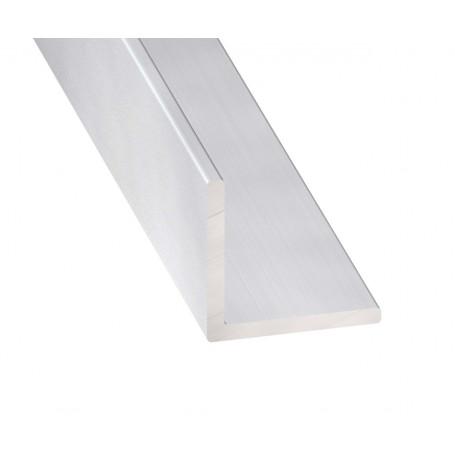 Cornière Égale en Aluminium Anodisé Incolore de 2 mètres