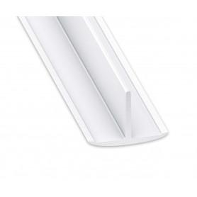 Té en PVC blanc de 25 x 18 mm en 2 mètres