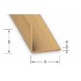 Cornière Égale en PVC couleur bois de 2 mètres