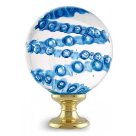 Boule d'Escalier en verre SPIRABULLE Bleue
