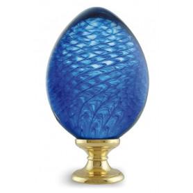 boule d'escalier Maille Ovoïde bleue