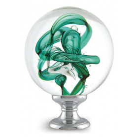 boule d'escalier tubes de bulles vertes