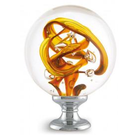 boule d'escalier tubes de bulles jaune