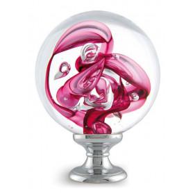 boule d'escalier tubes de bulles rose fuschia