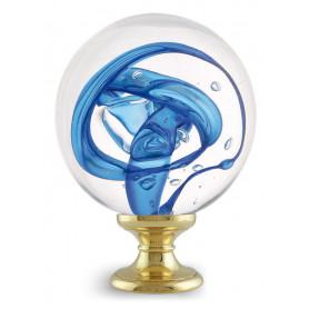 boule d'escalier tubes de bulles bleues