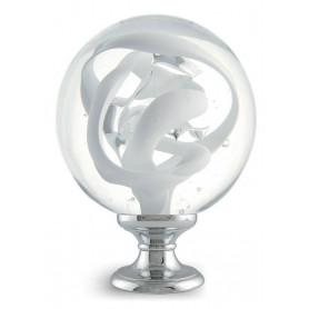 boule d'escalier tubes de bulles blanc opaque