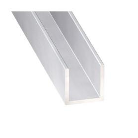 Profile en U aluminium brut en 1 metre