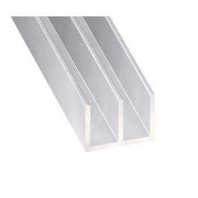 Profilés Aluminium Brut Formés en Double U en 1 mètre