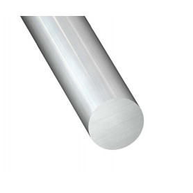 rond plein en aluminium brut 1 metre