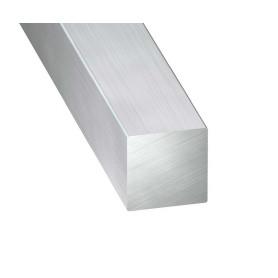Carrés Plein Aluminium Brut de 1 metre