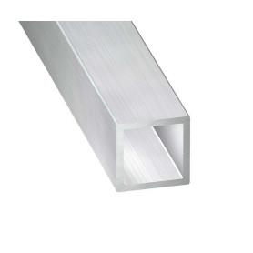 Tube carré Aluminium Brut de 1 metre