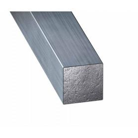 Fer carré en acier étiré d'un mètre