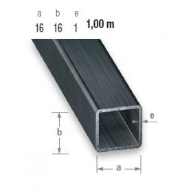 Tube carré en acier profilé à froid de 16 mm X 16 mm en 1 mètre