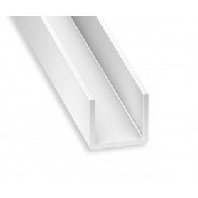 Profile PVC blanc en U de 1 mètre