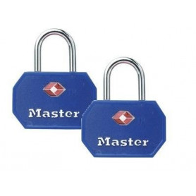 Cadenas TSA Master Lock à clé s'entrouvrant x2