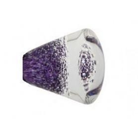 Bouton de Meuble Conique Micro Bulles Hyacinthe avec Insert