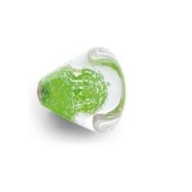 Bouton de Meuble Conique Micro Bulles Vert Anis avec Insert