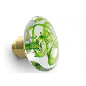 bouton de porte disque tubes de bulles vert anis