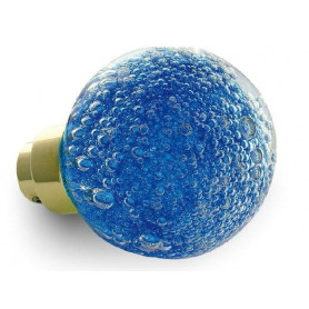 bouton de porte micro bulles bleues