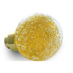 bouton de porte micro bulles Jaune Topaze