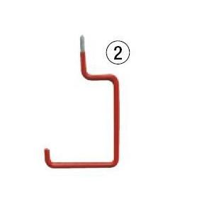 Crochet de suspension gainé à angle