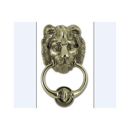 Heurtoir de porte en laiton à tête de lion