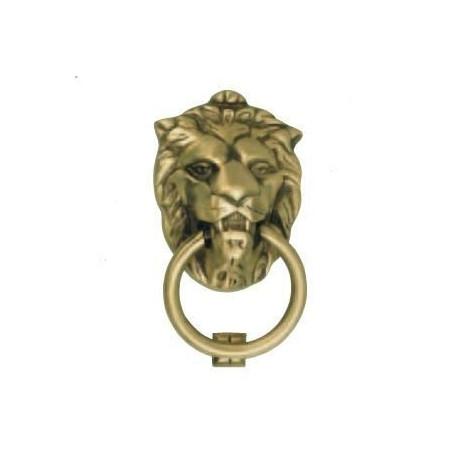 Heurtoir de porte patiné à tête de lion