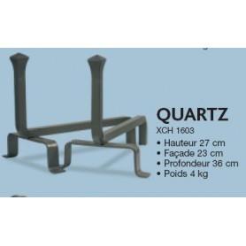 Chenets en acier modèle quartz