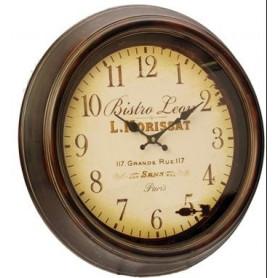 Horloge murale type bistrot