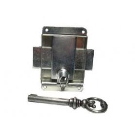 Serrure à pattes laitonnée de 20 mm reversible avec sa clé