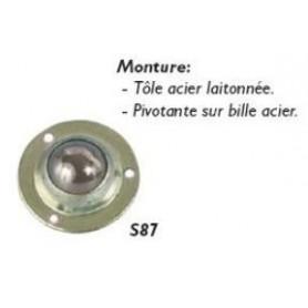 Roulette pivotante sur bille pour le micro-ameublement