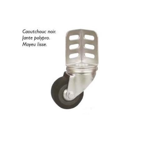 Roulette pivotante à cornière