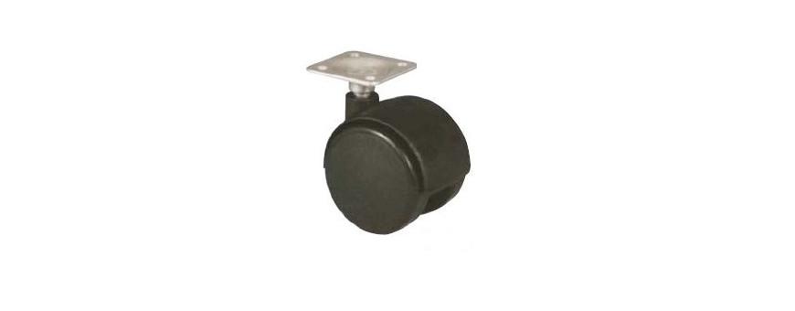 Les roulettes pivotantes sur platine pour petit mobilier et manutention