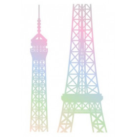 Sticker I love Paris 78x48cm