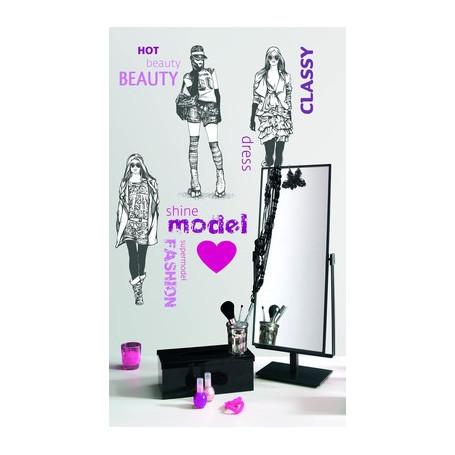 Sticker Models 78x48cm