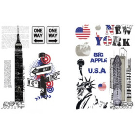 Sticker New York 78x48cm