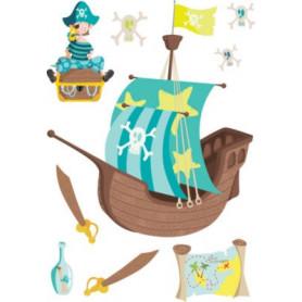 Sticker Pirates 78x48cm