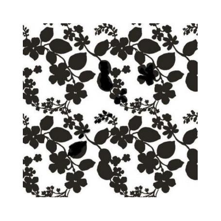 Adhésif fantaisie Feuillage Noir 20 Mètres x 45 cm