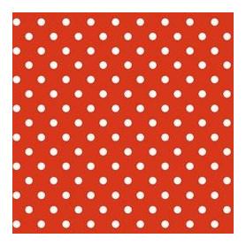 Adhésif fantaisie Pois fond Rouge 20 Mètres x 45 cm