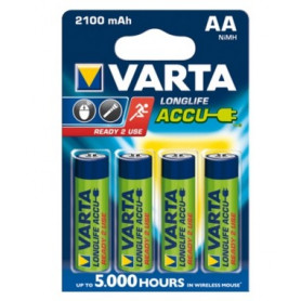 Piles Rechargeables AA 2100 mAh Varta
