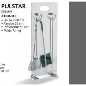 Serviteur de cheminée en verre modèle Pulstar
