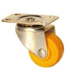 Roulette pivotante à platine en polypropylène
