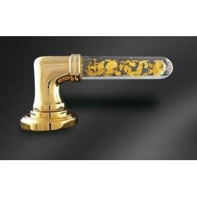 Béquille Alberto verre et paillettes d'Or