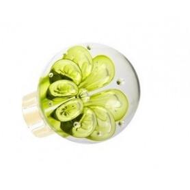bouton de porte sphérique bulles de fleur Vert Anis Laiton